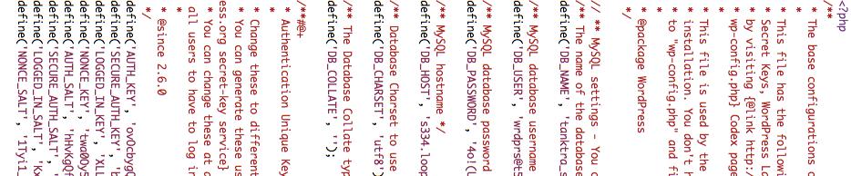 wordpressconfig